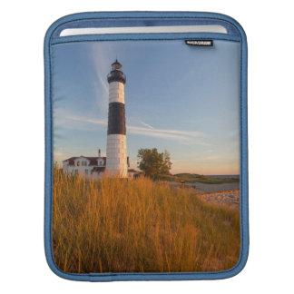 Big Sable Point Lighthouse On Lake Michigan 3 iPad Sleeve