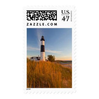 Big Sable Point Lighthouse On Lake Michigan 3 Postage Stamp