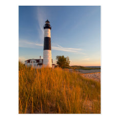 Big Sable Point Lighthouse On Lake Michigan 3 Postcard at Zazzle