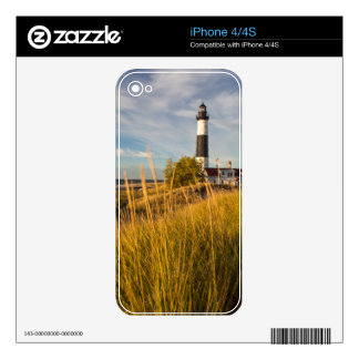 Big Sable Point Lighthouse On Lake Michigan iPhone 4 Skins