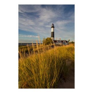 Big Sable Point Lighthouse On Lake Michigan Poster