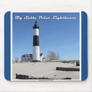 Big Sable Point Lighthouse - Throw Pillow Mouse Pad