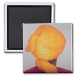 Big Saffron Turban Magnet