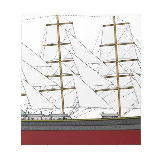 Big Sail Boat Notepad