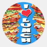 Big Sandwich Round Stickers
