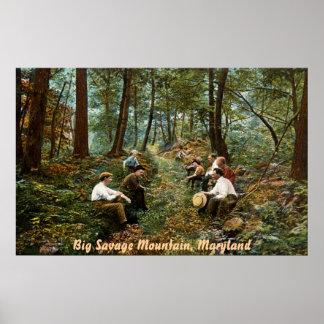 Big Savage Mountain Vintage Poster