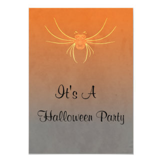 Big Scary Bug Halloween Party Card