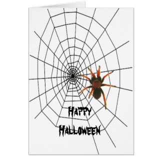 big scary spider card