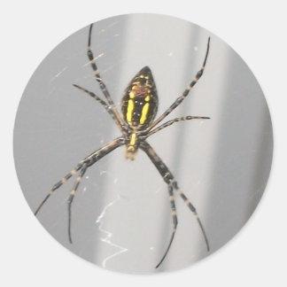 Big Scary Spider Classic Round Sticker