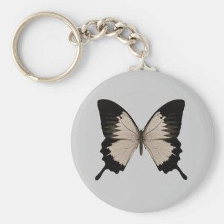Big Sepia Orange & Black Butterfly Keychain