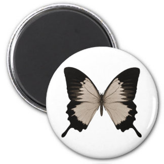 Big Sepia Orange & Black Butterfly Magnet