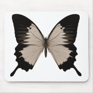 Big Sepia Orange & Black Butterfly Mouse Pad
