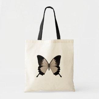 Big Sepia Orange & Black Butterfly Tote Bag