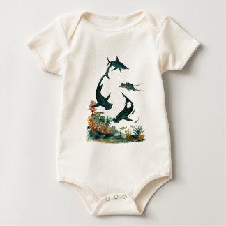 big sharks baby bodysuit
