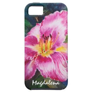 Big Shiny Pink Flower iPhone SE/5/5s Case