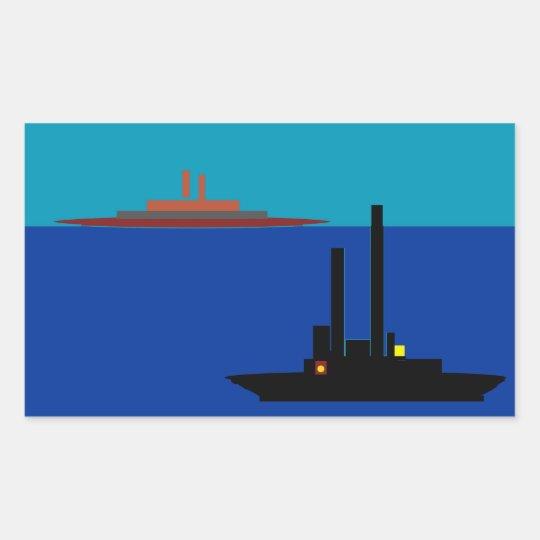 BIG SHIPS RECTANGULAR STICKER
