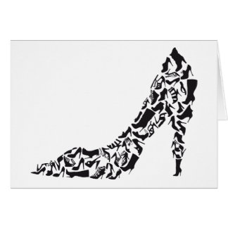 big shoe with different shoe silhouettes card