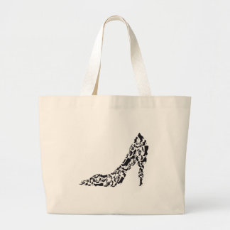 big shoe with different shoe silhouettes jumbo tote bag