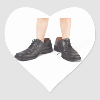 Big shoes to fill heart sticker
