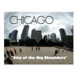 """Big Shoulders"" Chicago--Sandburg-themed postcard"