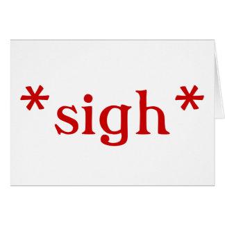 Big Sigh: cards (white)