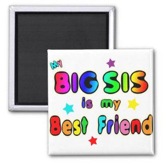 Big Sis Best Friend 2 Inch Square Magnet