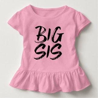Big Sis Black Brushed Lettering Toddler T-shirt