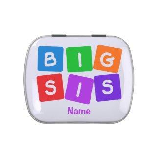 Big Sis candy tins