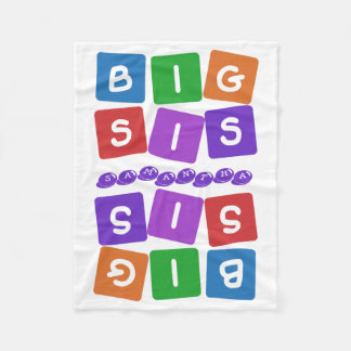 Big Sis custom name fleece blanket