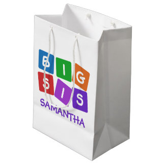 Big Sis custom name gift bags