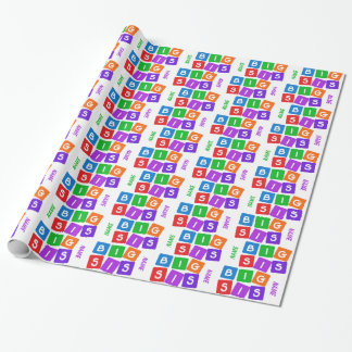 Big Sis custom wrapping paper