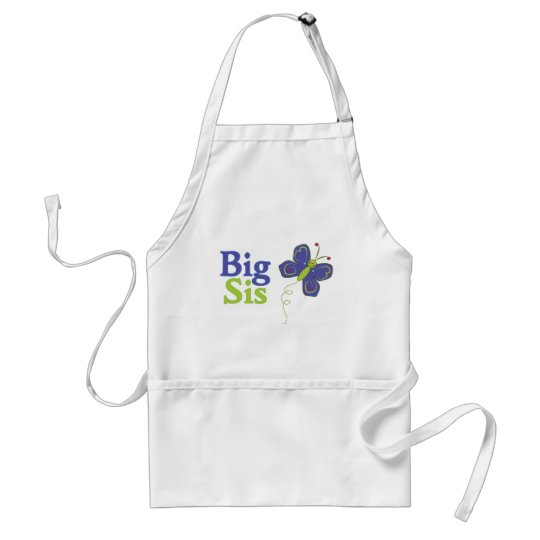 Big Sis Cute Butterfly 2 Adult Apron