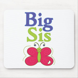 Big Sis Cute Butterfly 3 Mouse Pad