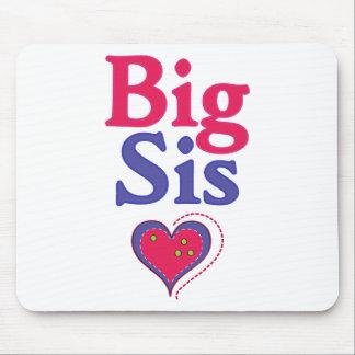 Big Sis Cute Heart Mouse Pad