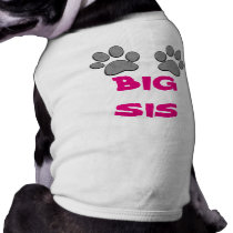 BIG SIS Dog Shirt Dog Paws Shirts for Dogs