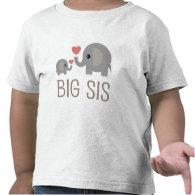 Big Sis Elephant Heart Shirts