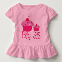 Big Sis Girls Cupcake Cute Ruffle T-shirt