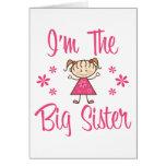 Big Sis Pink Girl Card