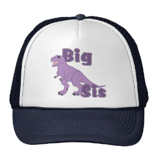 Big Sis Purple Dinosaur Trucker Hat