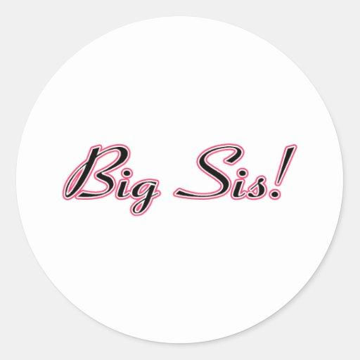 Big Sis! Round Stickers
