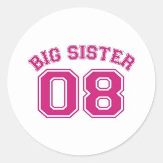 big sister 08 round sticker