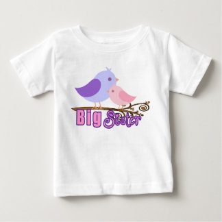Big Sister-2 Birds on a branch Baby T-Shirt