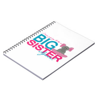 Big Sister Again Elephant Spiral Notebooks