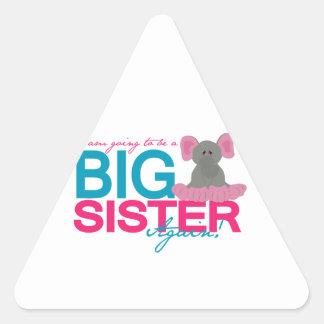 Big Sister Again Elephant Triangle Sticker