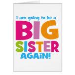 Big Sister Again Greeting Cards
