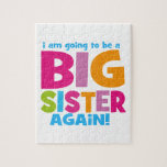 """Big Sister Again Jigsaw Puzzle<br><div class=""""desc"""">I am going to be a big sister again. Big,  bold and vibrant.</div>"""