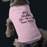 """Big Sister Arrow Personalized Dog T Shirt<br><div class=""""desc"""">Let your pet show off the fact she&#39;s going to be a big sister in a fun way with this personalized pink arrow print dog t shirt.</div>"""