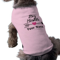 Big Sister Arrow Personalized Dog T Shirt