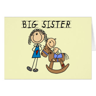 Big Sister Baby Brother T-shirts and Gifts Greeting Card