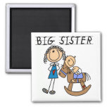 Big Sister Baby Brother T-shirts and Gifts Fridge Magnet